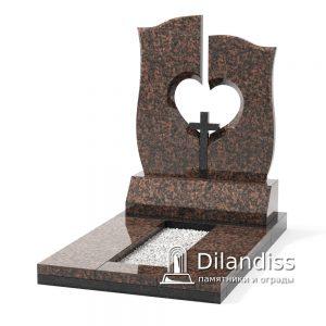 памятник с крестом и сердцем гранит капустянский
