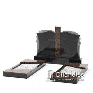 памятник на двоих с резкой книги гранит дымовский