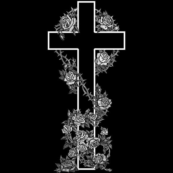 гравировка крестика на памятнике