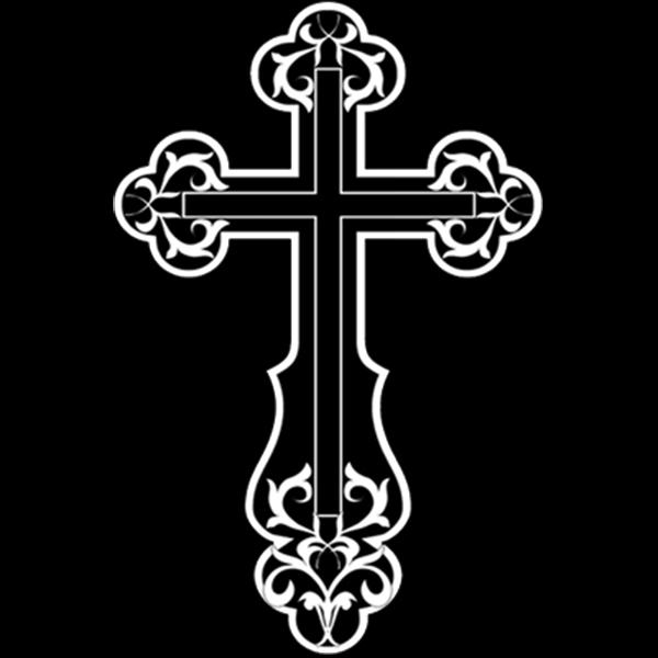 гравировка крест на камень