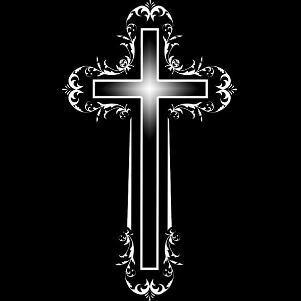 крест гравировка на камне