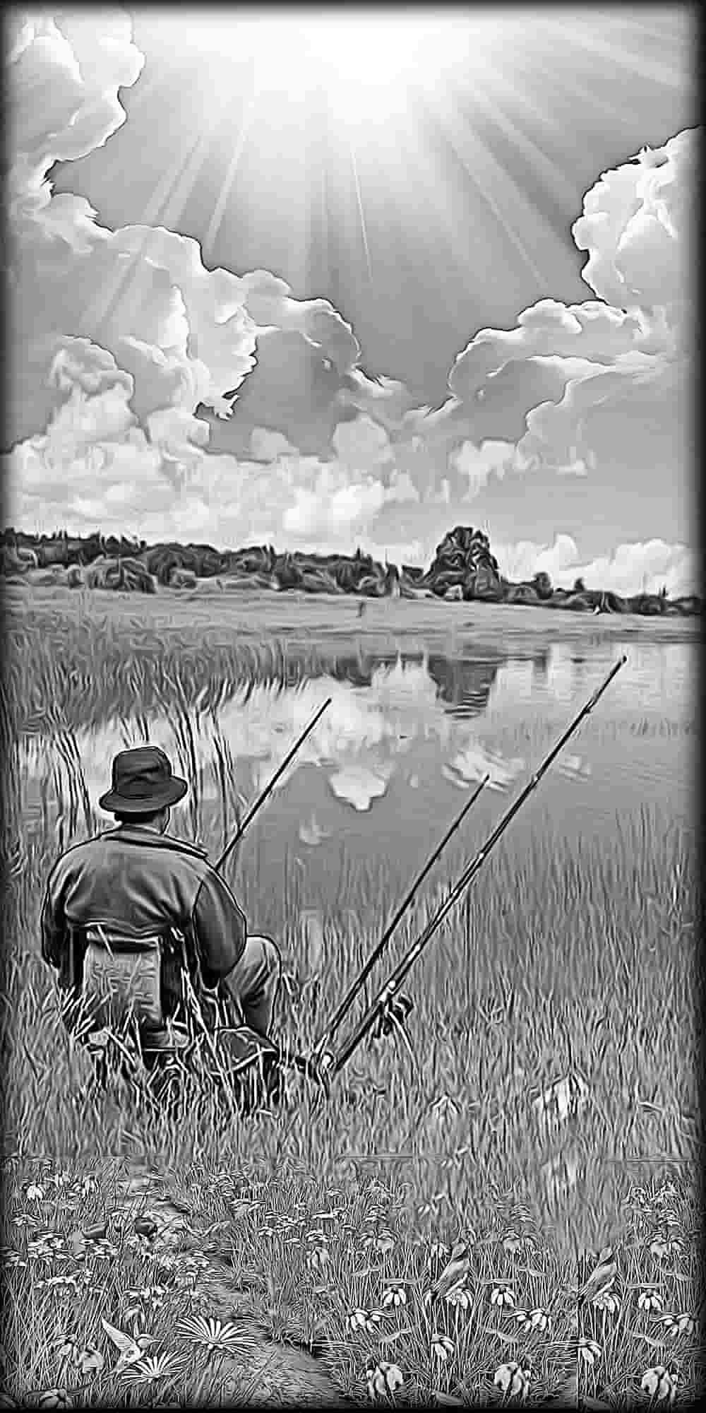 гравировка рыбак на памятнике